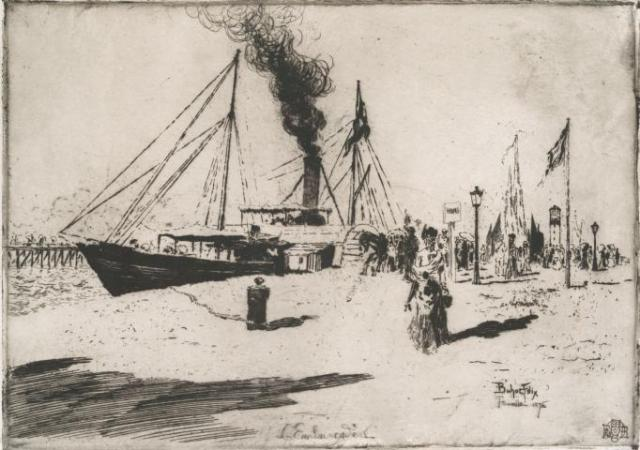 [Embarcadere à Trouville (Werf in Trouville) 1877]